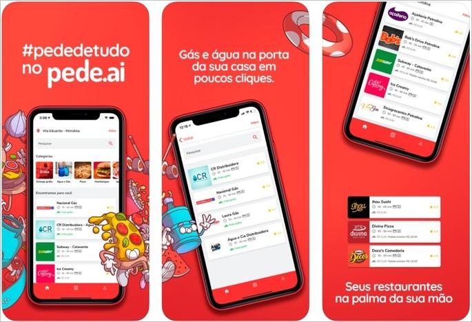 Imagem de divulgação do app de entrega pede.aí