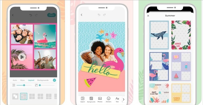 Imagem de divulgaçáo do app pic collage na Play Store