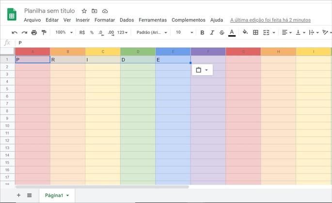 Planilha do Google em homenagem à comunidade LGBTQIA+