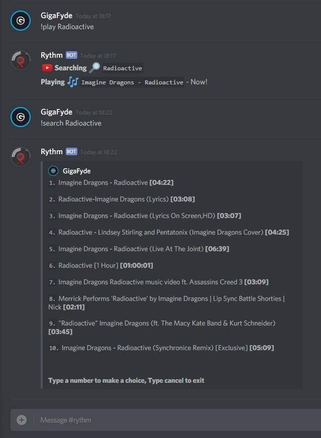 imagem de divulgação do bot Rythm