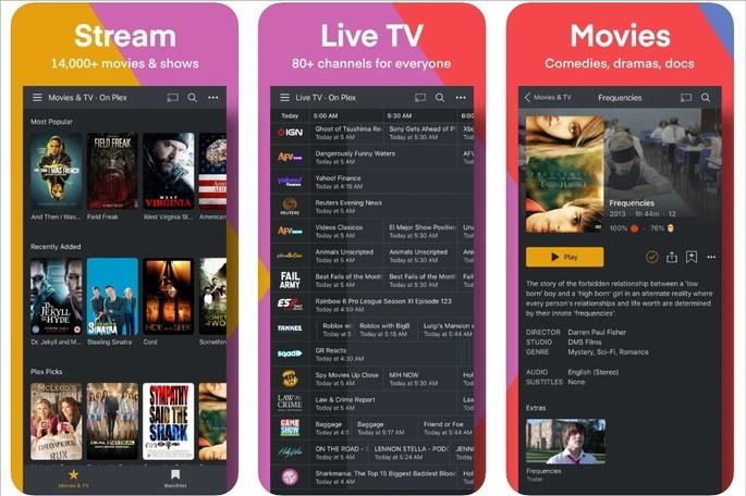 Imagem de divulgação do app de streaming de vídeo Plex