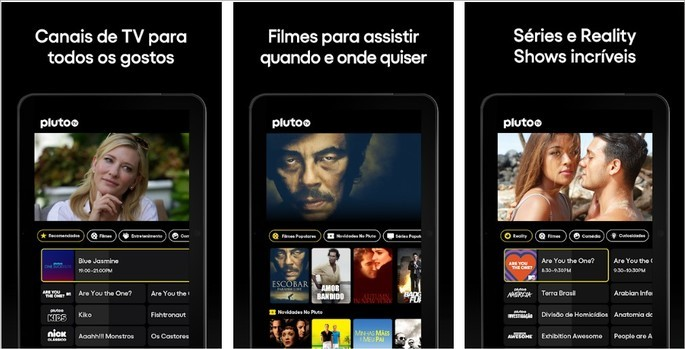 Imagem de divulgação da plataforma de canais e Streaming de vídeo Pluto TV