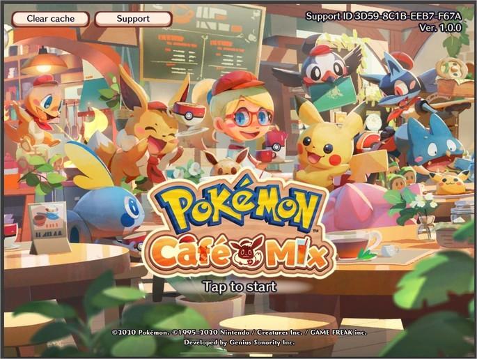 Imagem de divulgação do jogo Pokémon Café Mix