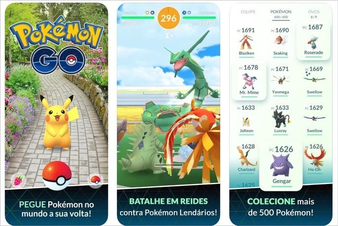Imagem de divulgação do jogo Pokémon Go