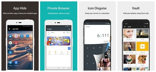 Ocultar aplicativos com o PrivacySafe