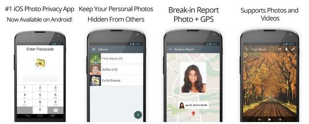 Esconder fotos com o Private Photo Vault