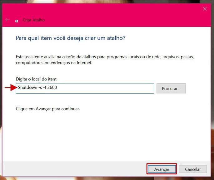 Ferramenta de criação de atalho do Windows
