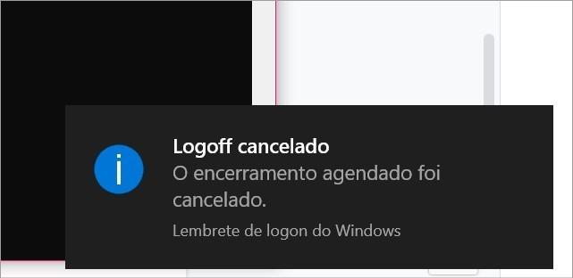 Desativando o comando programado para desligar o PC sozinho
