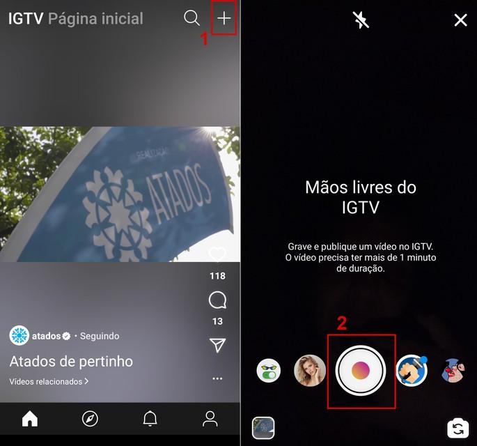 Como postar vídeos pelo app do IGTV