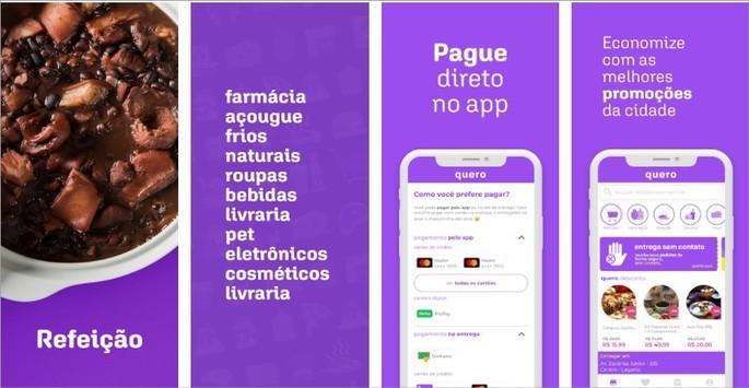 Imagem de divulgação do app de entrega Quero Delivery