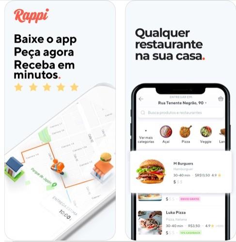 Aplicativos de comida Rappi