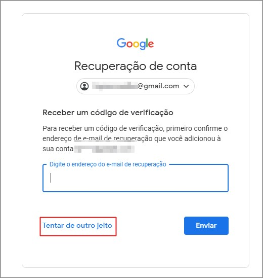 Recuperar conta gmail