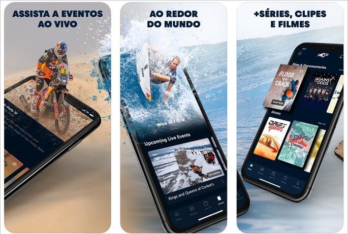 Imagem de divulgação do app de streaming de vídeos esportivos Red Bull TV