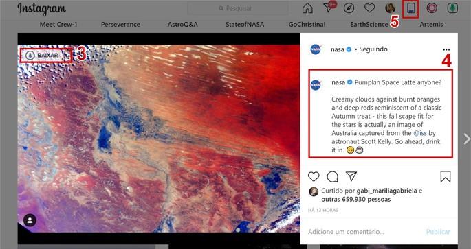 Fazer repost no Instagram pelo PC