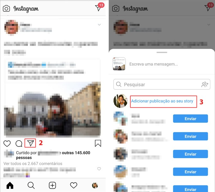repostar stories do instagram