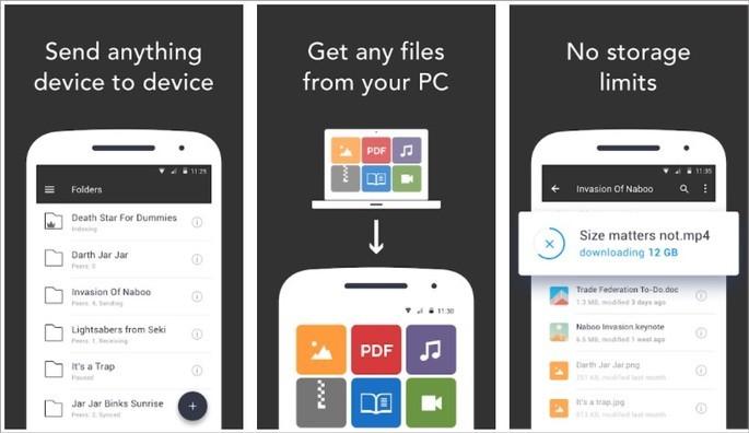 Imagem de divulgação do app para Android Resilio Sync