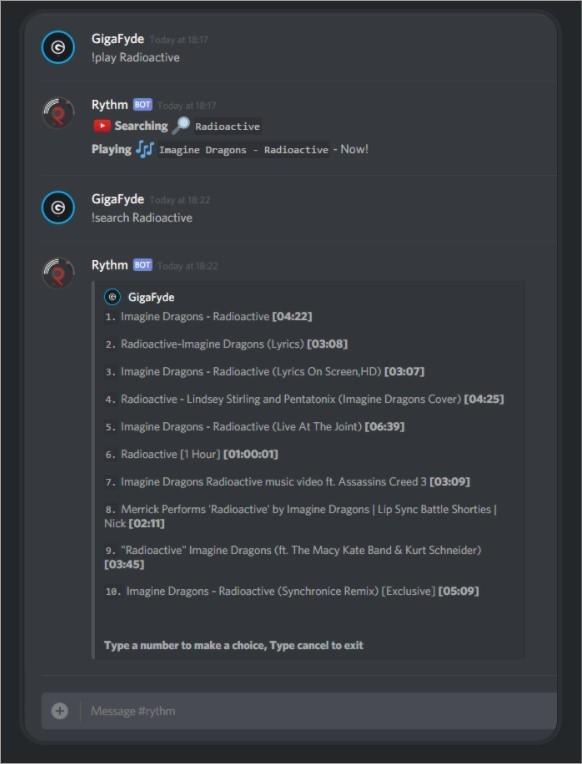Imagem de divulgação do bot de música para Discord Rythm