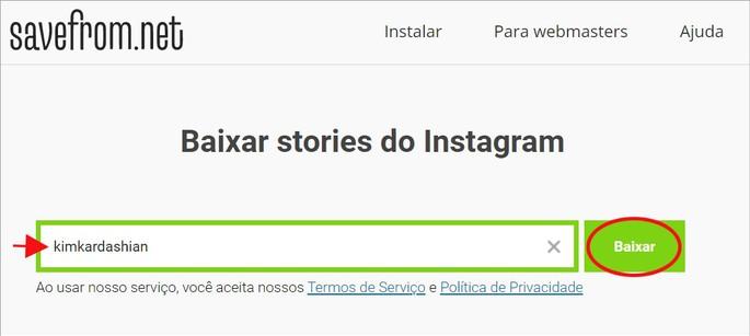Como baixar vídeos do Instagram Stories online