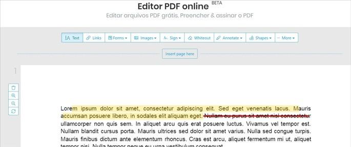 Editor de PDF Sejda
