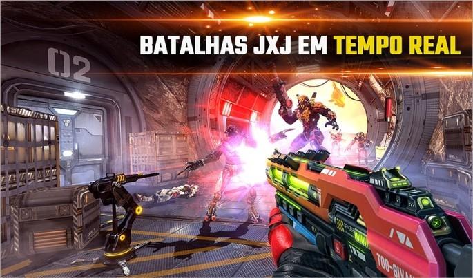 Imagem de divulgação do jogo Shadowgun Legends