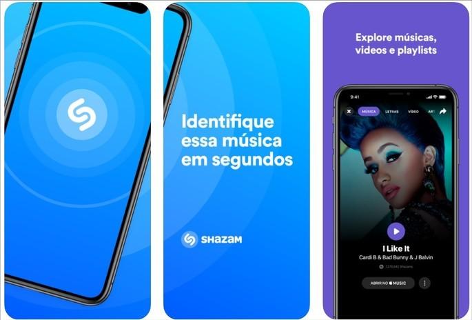Imagem de divulgação do app para descobrir músicas Shazam