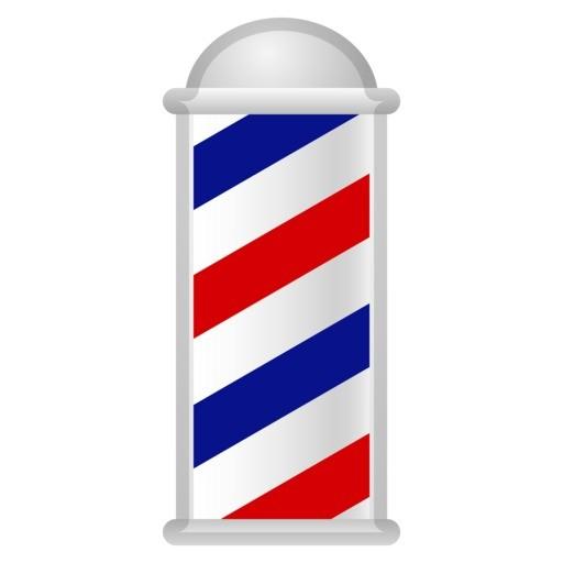 Emoji de sinal de barbearia