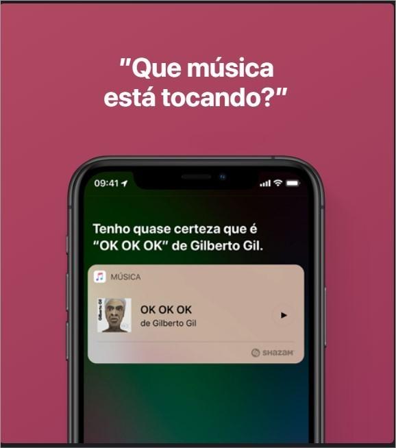 Siri descobre música de Gilberto Gil