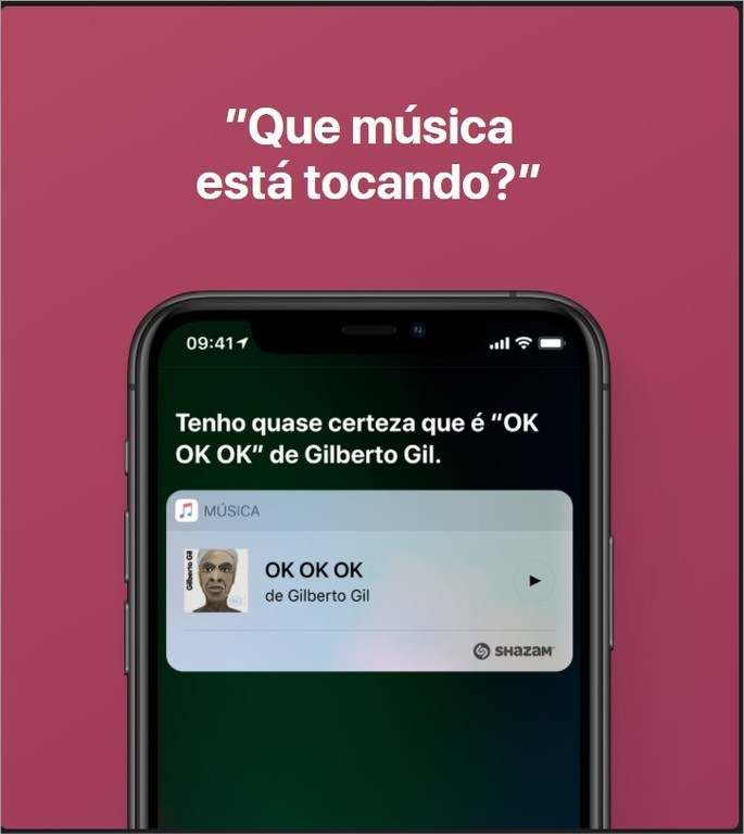Siri indica qual música está tocando