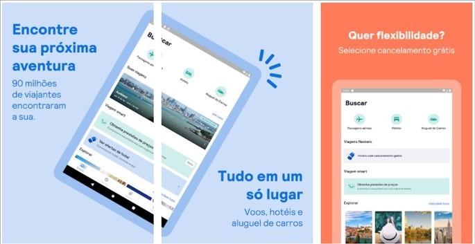 App de viagem Skyscanner para passagens aéreas baratas