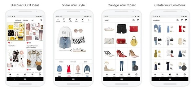 Aplicativo de moda e estilo Smart Closet Fashion Style