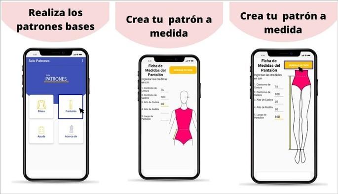 Imagem de divulgação do app Solo Patrones, para a criação de moldes de roupas