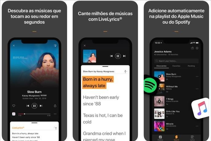 Imagem de divulgação do app de reconhecimento de música SoundHound