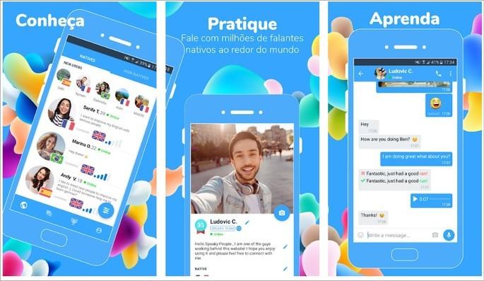 App de intercâmbio cultural Speaky