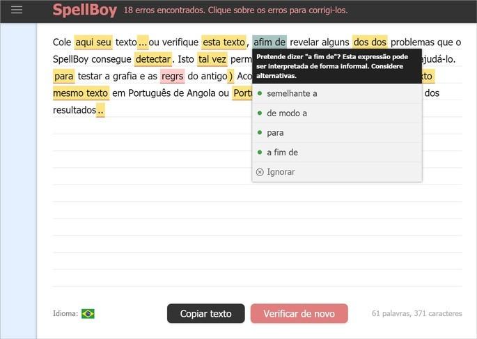 Corretor de texto SpellBoy