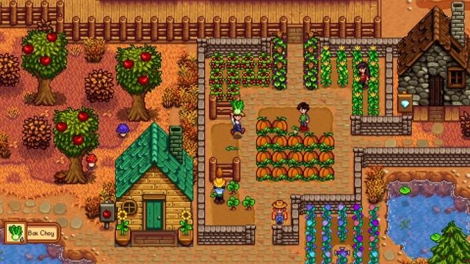 Mapa do jogo de RPG Stardew Valley