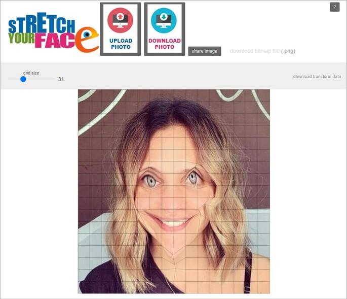 Foto alterada com o site Stretch Yor Face