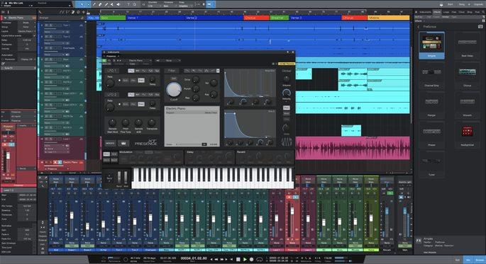 Captura de tela do editor de áudio Sto«udio One