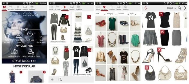 Aplicativo de moda e estilo Stylicious