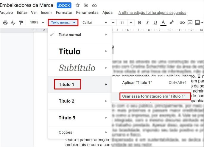 Como inserir um sumário no Google Docs