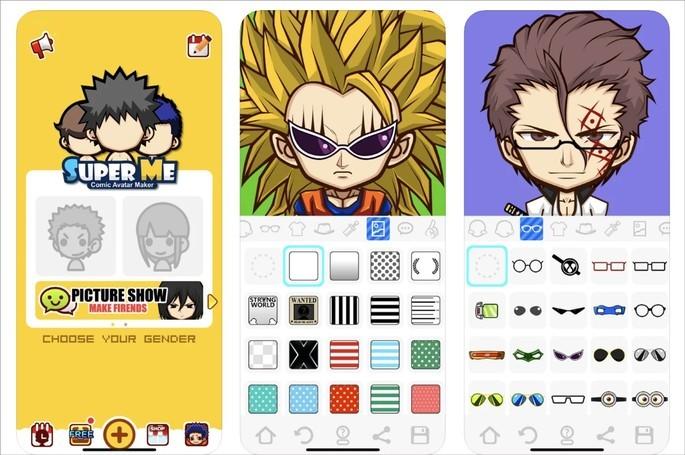 App SuperMii permite criar avatar no estilo anime e cartoon