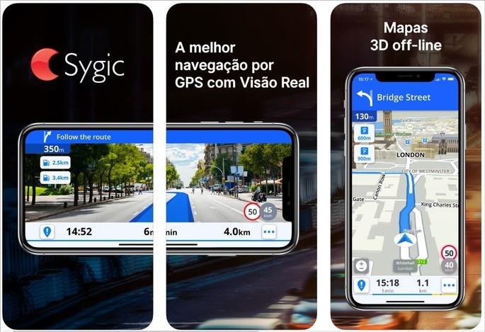 Imagem de divulgação do app Sygic navegação por GPS na App Store