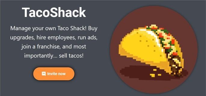 Logo do bot de jogo para Discord TacoShack