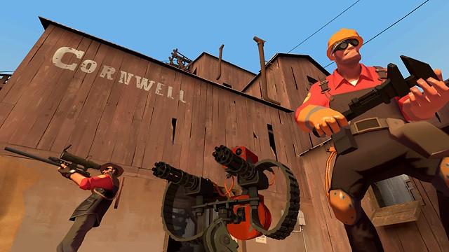 Imagem de divulgação do jogo de tiro Team Fortress 2