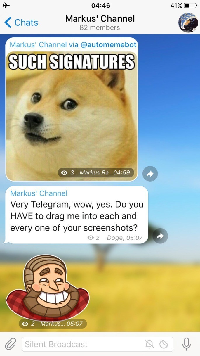 Apps de bate-papo Telegram