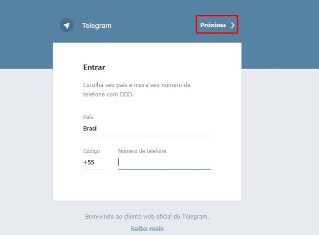 Como usar o Telegram Web
