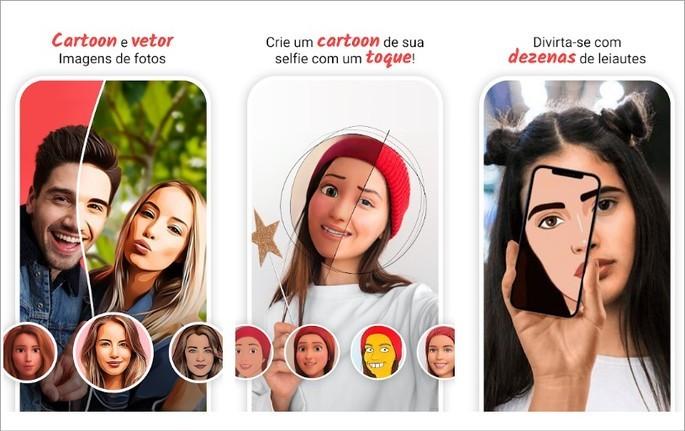 Imagem de divulgaçao do app ToonMe