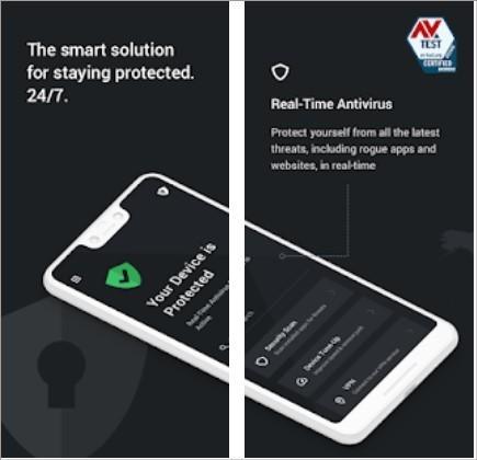 Imagens de divulgação do app antivírus para Android  TotalAV