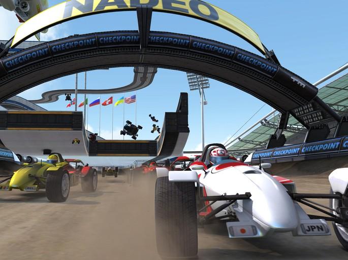 Imagem de divulgação do jogo de corrida para PC TrackMania Nations Forever