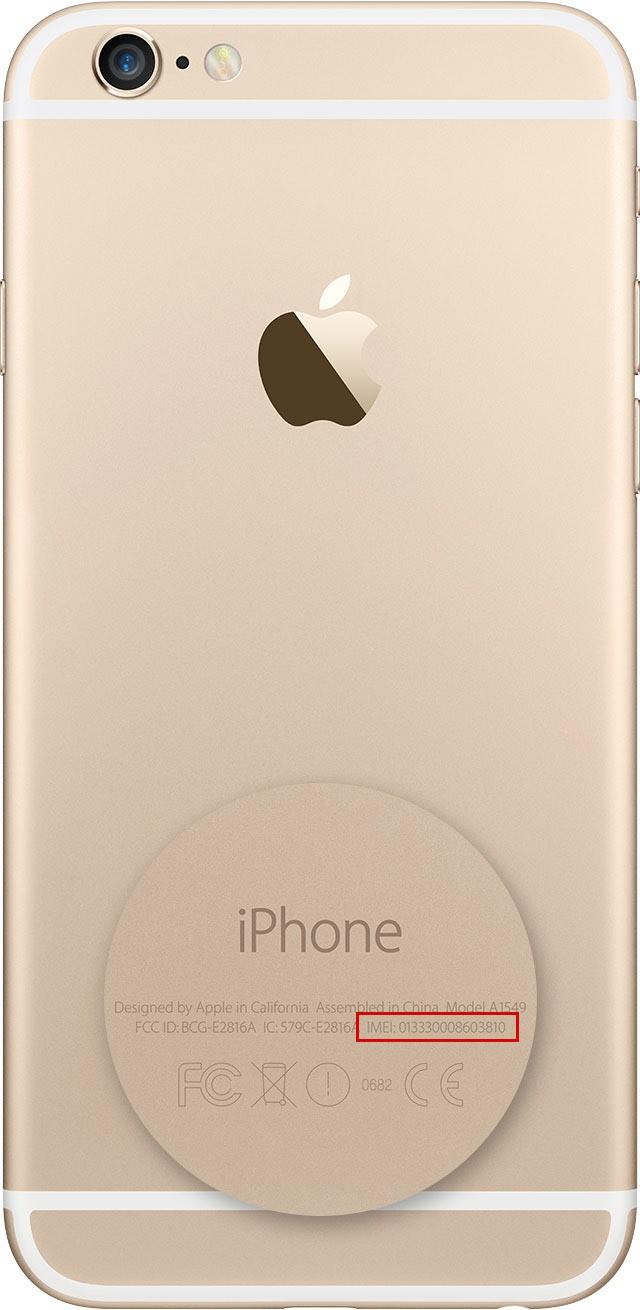 IMEI gravado na traseira do iPhone 6