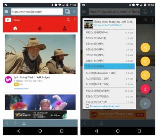 Baixar vídeos no celular Android com o TubeMate